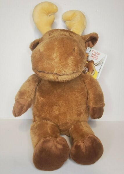 Kohls Cares If You Give a Moose a Muffin 18quot; Plush Stuffed Toy Animal NWT $15.99