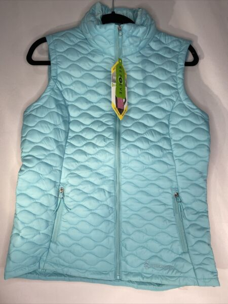 Women#x27;s Free Country Quilted Vest in Turquoise Size Medium NWT $19.99