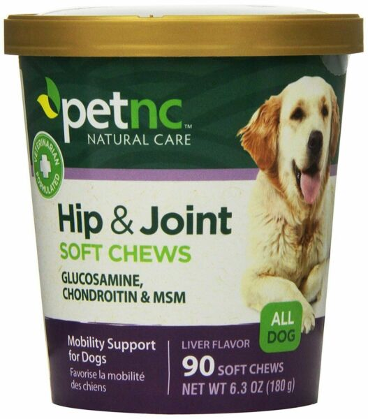 PetNC Natural Care Hip and Joint Soft Chews for Dogs Mobility Support 90 Count $12.13