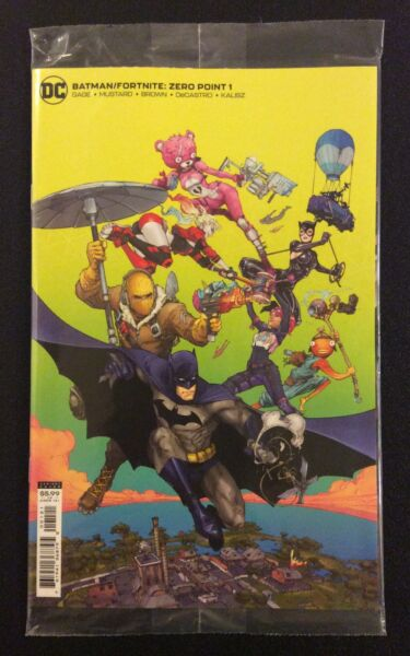 BATMAN FORTNITE ZERO POINT #1 Comic SEALED Harley Cover CODES Cuddle Team Leader $24.99