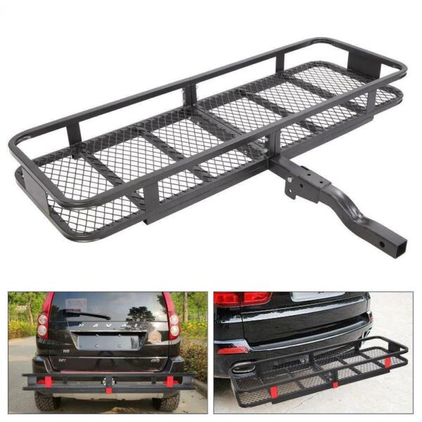 Steel Folding Luggage Cargo Basket Carrier Truck SUV Trailer Receiver Hitch Rack $100.85