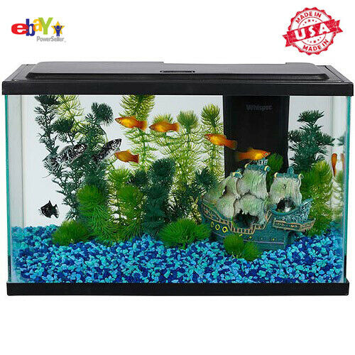 Aqua Culture 5 Gallon Fish Tank LED Aquarium Starter Kit Tetra Food NEW US $37.79