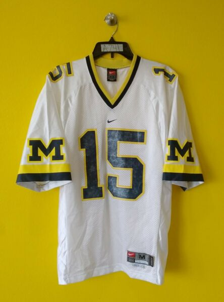 🏈MICHIGAN WOLVERINES #15 NIKE FOOTBALL JERSEY MENS M