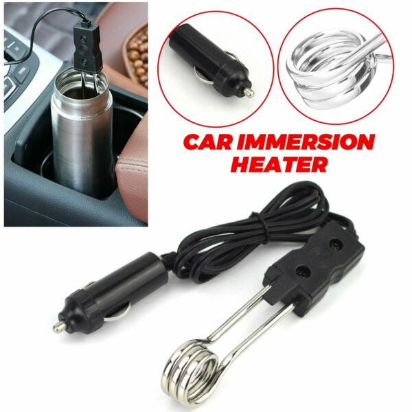 Water Heater Car Immersion Coffee Tea 12V Power Portable Auto Hot Boiler $4.45