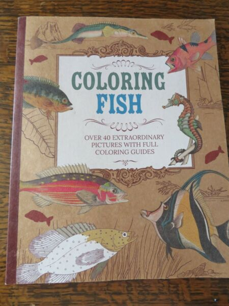 Coloring fish 40 pictures with full coloring guides $5.00