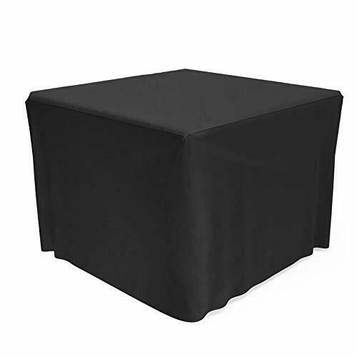 SHINESTAR 32 inch Square Fire Pit Cover Heavy Duty Fabric with PVC Coating Rai