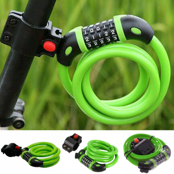 Bicycle High Security Bike Lock Cable 5 Digit Password Combination Heavy Duty $8.99