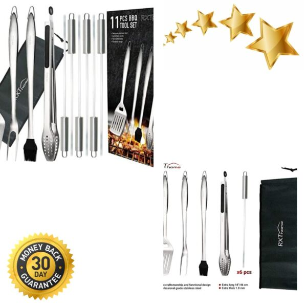 BBQ Grill Set Accessories Grill Tools Set XL Heavy Duty Stainless Steel Grilling