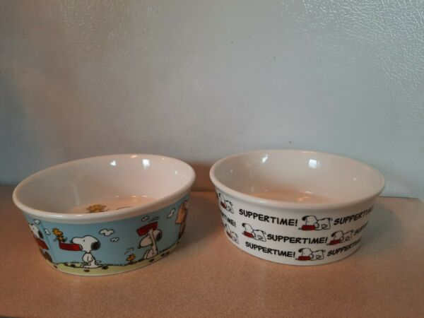 Snoopy Dog Dishes 2 Brand New Gibson Overseas $12.50