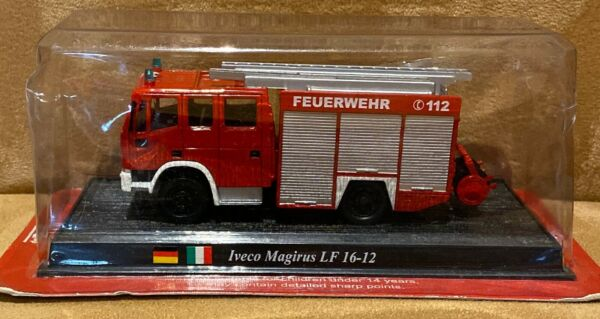 Del Prado Die Cast Fire Engine Iveco Magirus LF 16 12 NEW