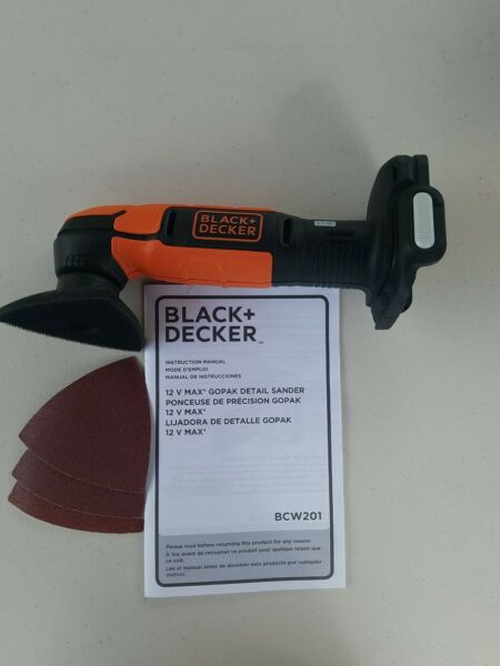 Black amp; Decker 12V CORDLESS DETAIL SANDER BCW201 FOR GOPAK