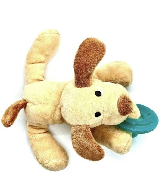Baby Pacifier Dog Holder With Detachable Plush Stuffed Animal Toy Infant $6.40