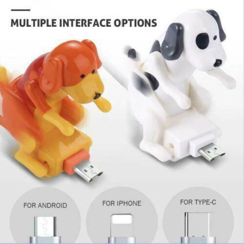 Funny Humping Dog Fast Charger Cable Stray Dog Charging Cable Dog Toy Smartphone $22.65