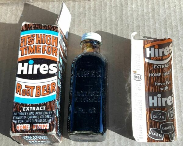 Vintage 70s Hires Root Beer Extract 3oz dried up