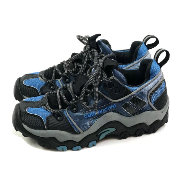 Cannondale Mountain Bike MTB Cycling Shoes Womens US 7M Blue 2 Bolt Lace Up $22.34
