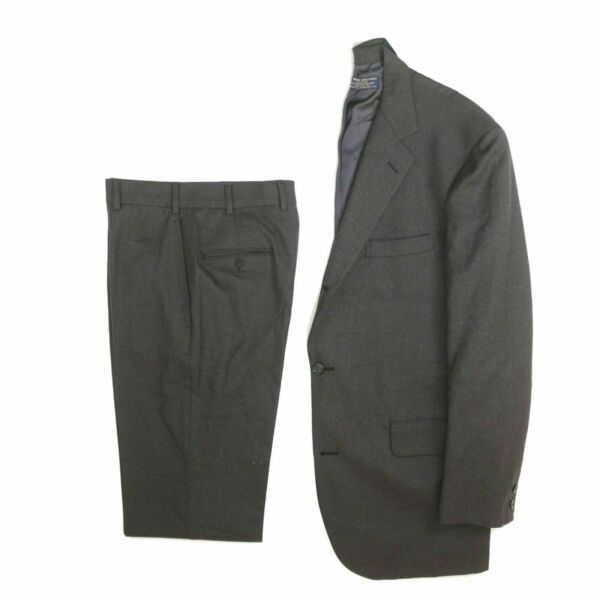 Brooks Brothers Makers 1818 3 2 Roll Men#x27;s Gray 100% Wool Suit 40 34 LNG $144.99