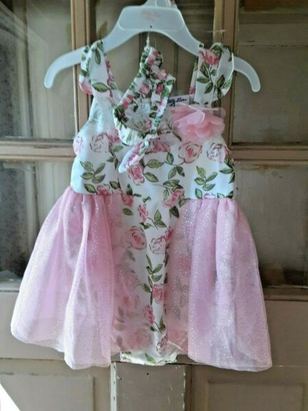 Little Lass Baby Girls One Piece Outfit with Headband Size 24 Mo. NEW WITH TAGS