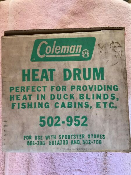 Vintage COLEMAN Heat Drum Model 502 952 With Box $72.95