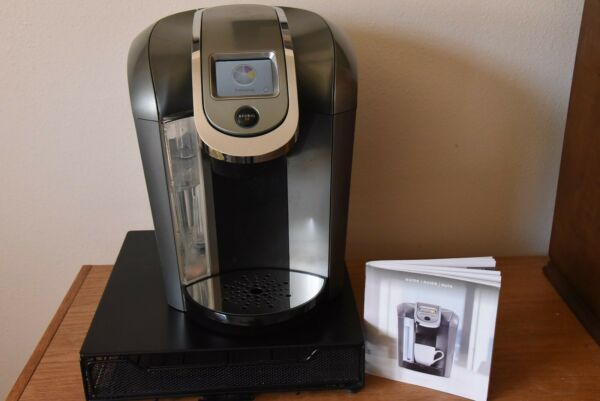 Keurig Hot 2.0 K500 Coffee Maker Silver With K cup Caddy