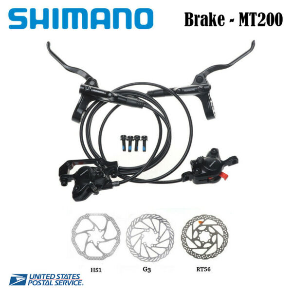 Shimano BL BR MT200 Hydraulic Disc Brake Set MTB Bicycle Front Rear HS1 G3 RT56
