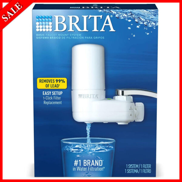 Brita Water Filter System Purifier Cleanser Water Filtration Tap Faucet Filters
