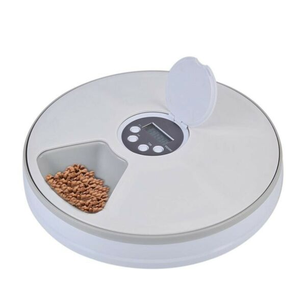 Automatic Programmable 6 Meal Timed Pet Feeder Dog Cat Food Bowl Dispenser Auto $42.95