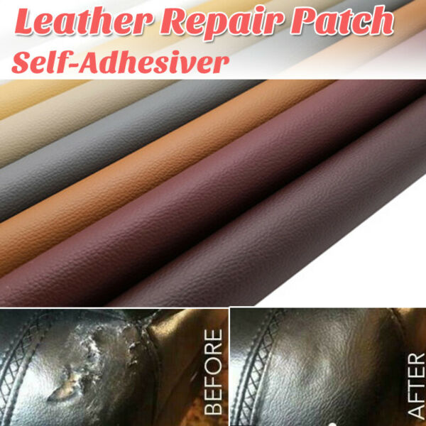 Leather Sofa Repair Self Adhesive Patch No Ironing Repairing PU Fabric Patches A $7.64