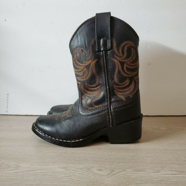 Smoky Mountain Kids Sz 10 D Brown Leather Western Classic Cowboy Boots $32.99