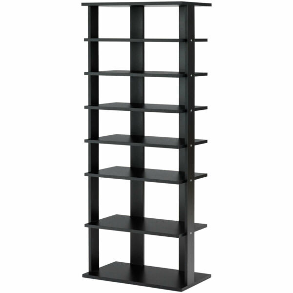 Costway 7 Tier Dual Shoe Rack Storage Shelves Freestand Concise Home Living Room