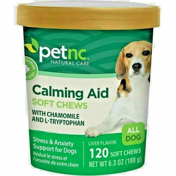 PetNC Natural Care Calming Aid Soft Chews For Dog 120 Ct 1 Pack : 12 22 $12.11