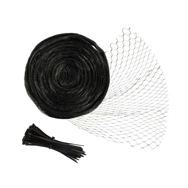 Unves Bird Netting 13 x 33 Feet Reusable Heavy Duty Fruit Tree Netting with ...