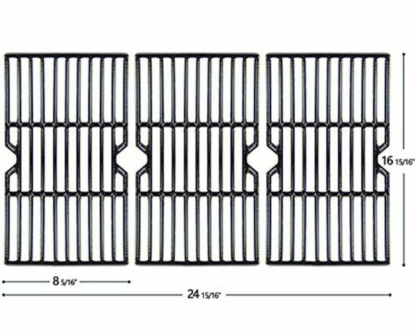 Cast Iron Grill Cooking Grates 3 Pack for Charbroil Advantage Kenmore Broil King