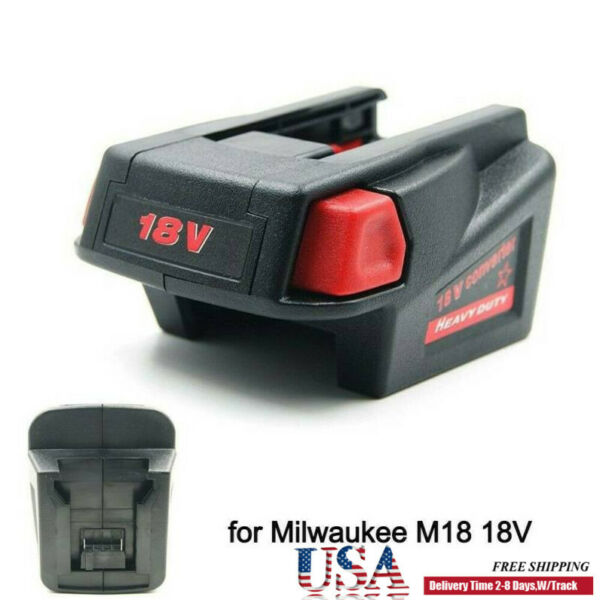 DIY For Milwaukee M18 Li ion Battery to V18 Battery Tool Adapter Converter Case $19.94