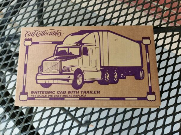 Ertl Collectibles White GMC Cab with Trailer 1 64 Bergey#x27;s $25.00