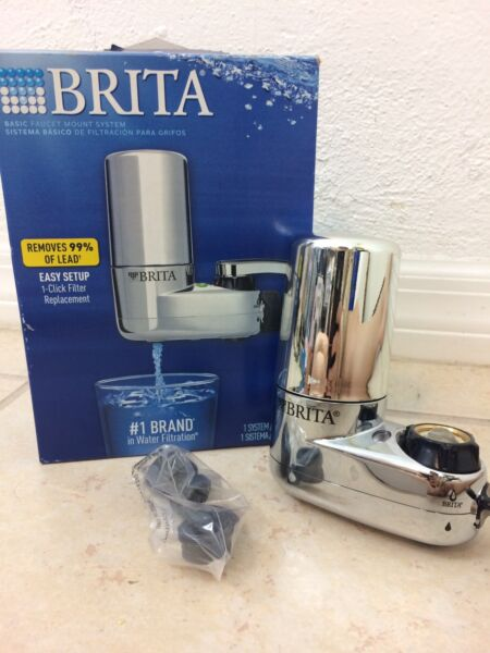 Brita On Tap Faucet Water Filter System Chrome Healthy Clean Hydrate