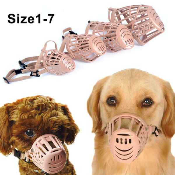 Pet Dog Basket Muzzle Mouth Cover Mesh Cage Anti Bite Biting Chewing Large US $21.35