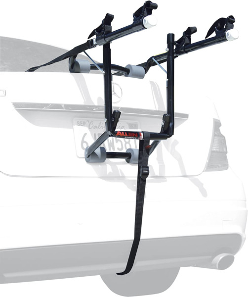 2 Bike Trunk Mount Rack Universal Upright Bicycle Carrier Trailer Lockable Easy $81.41