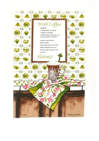 Charles Gallen Tea Towels Gorgeous Irish Coffee Home Blessing