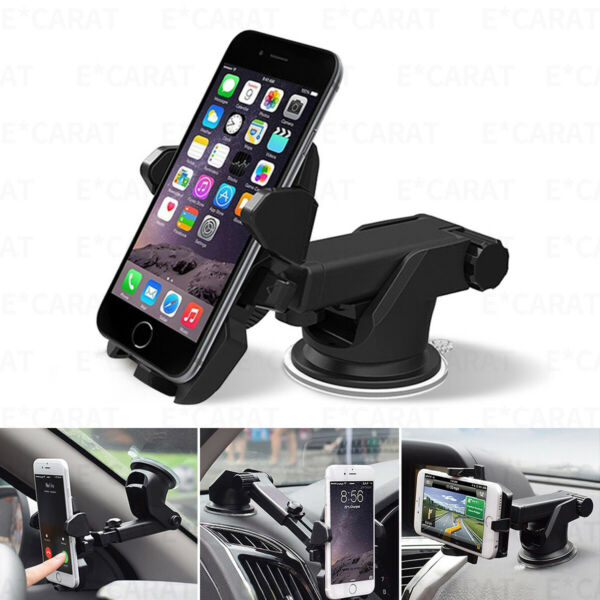 360° Mount Holder Car Windshield Stand For Mobile Cell Phone GPS iPhone Samsung $7.99