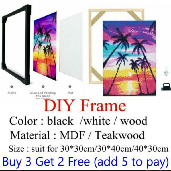 MDF Wood Frame for Diamond Painting DIY Solid Photo Poster Decorative Frames $13.99
