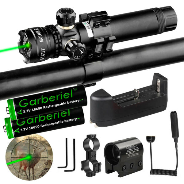 18650 For Rifle Remote Switch 2 Mount Tactical 532nm Green Laser Dot Scope Sight $19.88