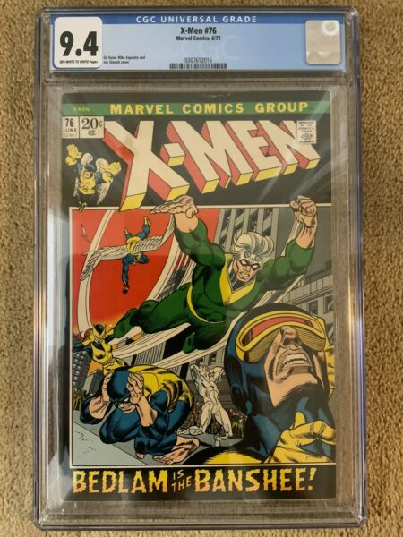 X MEN #76 CGC 9.4 Marvel Comics Banshee Cover Tough To Find In High Grade $1200.00
