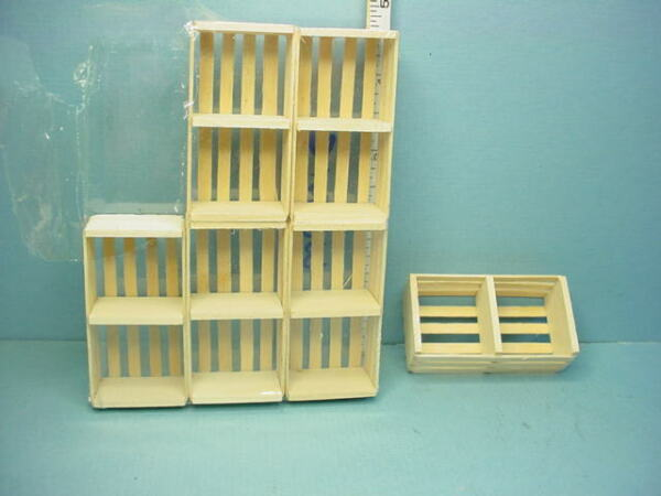 Miniature Wooden Crates wi Labels 6 Empty #W0501C Serendipity 1 12th