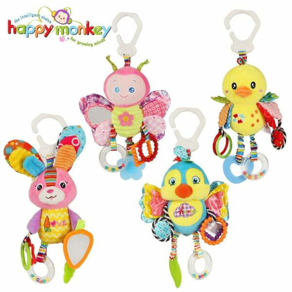Baby Plush Stuffed Rattle Toy Stroller Hanging Animal Bed Mobile Infant Gift $16.50