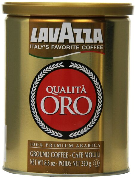 Lavazza Qualita Oro Ground Coffee 8oz Cans Pack Of 2 8.8 Ounce Pack of 2
