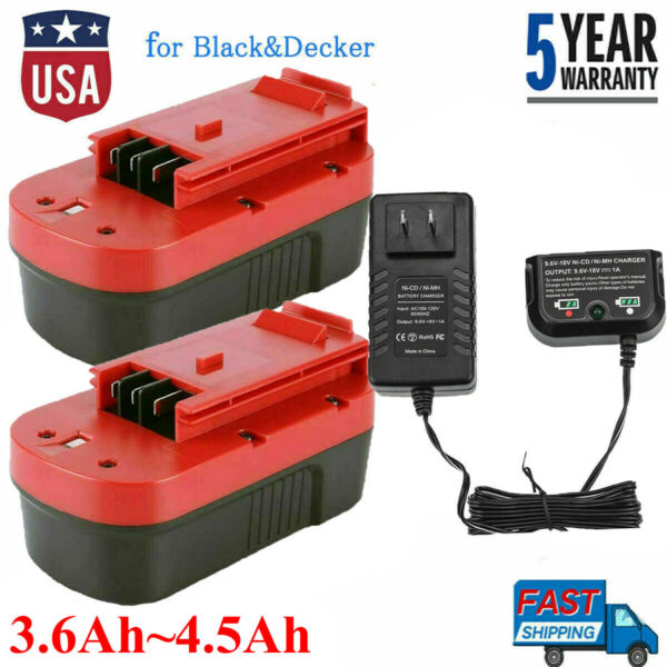 18 VOLT FOR BLACK AND DECKER HPB18 OPE HPB18 244760 00 FS18BX BATTERY OR CHARGER