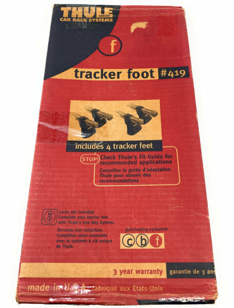 Thule Car Rack Systems Tracker foot # 419 Includes 4 tracker feet $89.99