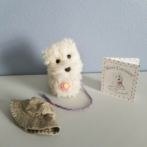 American Girl Doll VINTAGE Dog Coconut with Flower Collar 2001 Edition RETIRED $26.99