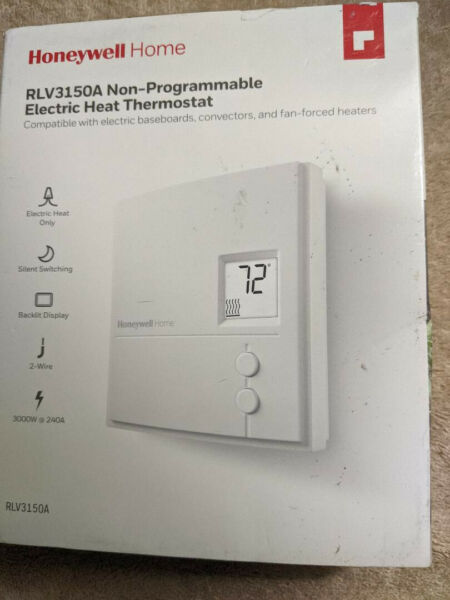 Honeywell Home 2 Wire Non Programmable Electric Heat Thermostat RLV3150A $14.50