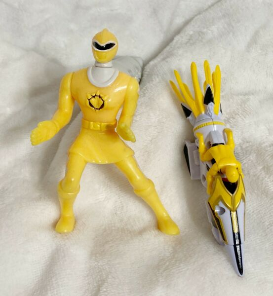 Power Ranges Yellow Ranger Motorcycle Toy and McDonald#x27;s Toy Lot of 2 $10.00